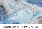 Blue Marble Pattern With Curly...