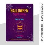 creative halloween poster...   Shutterstock .eps vector #1193981230