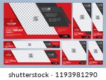 red and black web banners... | Shutterstock .eps vector #1193981290