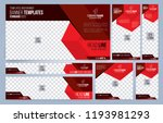 red and black web banners... | Shutterstock .eps vector #1193981293