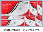 red and black web banners... | Shutterstock .eps vector #1193981296