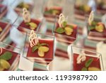 candy bar. table with sweets ... | Shutterstock . vector #1193987920