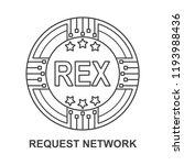 request network coin rex... | Shutterstock .eps vector #1193988436
