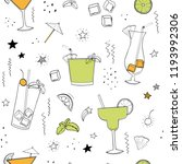 party cocktails seamless... | Shutterstock .eps vector #1193992306