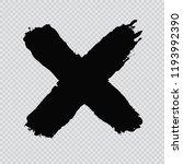 x.grunge letter x.vector cross... | Shutterstock .eps vector #1193992390