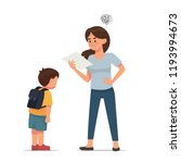 mother is upset with her son... | Shutterstock .eps vector #1193994673