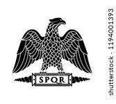 logo of the roman eagle. | Shutterstock .eps vector #1194001393