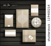 vector set with gift boxes in... | Shutterstock .eps vector #119400214