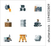 simple set metal production and ... | Shutterstock .eps vector #1194002809