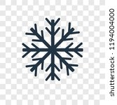 snowflake vector icon isolated... | Shutterstock .eps vector #1194004000
