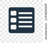 list vector icon isolated on...