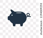 piggy bank vector icon isolated ... | Shutterstock .eps vector #1194009253