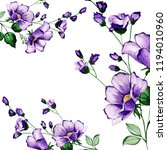 beautiful watercolor floral and ... | Shutterstock . vector #1194010960