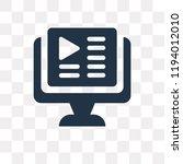 video tutorial vector icon...   Shutterstock .eps vector #1194012010