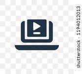video tutorials vector icon...   Shutterstock .eps vector #1194012013