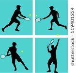 tennis player   Shutterstock .eps vector #119401324