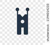 overall vector icon isolated on ... | Shutterstock .eps vector #1194014233