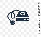 hard disk vector icon isolated... | Shutterstock .eps vector #1194015796