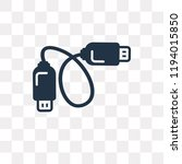 cable vector icon isolated on... | Shutterstock .eps vector #1194015850