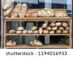 artisanal bread displayed in... | Shutterstock . vector #1194016933