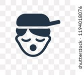 rapper vector icon isolated on... | Shutterstock .eps vector #1194018076