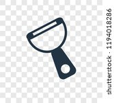 peeler vector icon isolated on... | Shutterstock .eps vector #1194018286