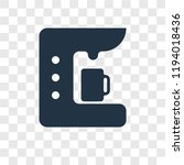 coffee maker vector icon... | Shutterstock .eps vector #1194018436