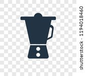 mixer vector icon isolated on... | Shutterstock .eps vector #1194018460
