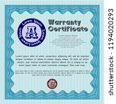 light blue retro warranty... | Shutterstock .eps vector #1194020293