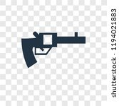 revolver vector icon isolated... | Shutterstock .eps vector #1194021883