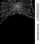 simple white spider web vector... | Shutterstock .eps vector #1194025510