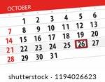 calendar planner for the month  ... | Shutterstock . vector #1194026623