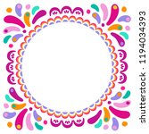 vector bright colorful round... | Shutterstock .eps vector #1194034393