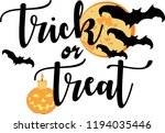 trick or treat for helloween... | Shutterstock .eps vector #1194035446