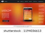 website landing page vector...