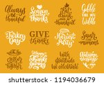 always be thankful  gather... | Shutterstock .eps vector #1194036679