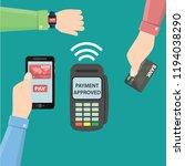 hands with smartphone ... | Shutterstock .eps vector #1194038290