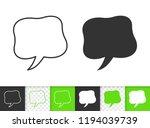 speech bubble black linear and... | Shutterstock .eps vector #1194039739