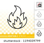 fire thin line icon. outline... | Shutterstock .eps vector #1194039799