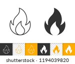 fire black linear and... | Shutterstock .eps vector #1194039820