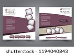 square flyer template. simple... | Shutterstock .eps vector #1194040843