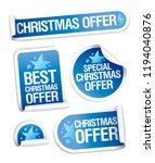 christmas sale offer stickers... | Shutterstock .eps vector #1194040876
