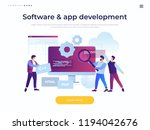 concept of software development ... | Shutterstock .eps vector #1194042676