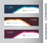 vector abstract web banner... | Shutterstock .eps vector #1194044050
