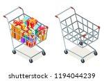 shopping cart purchase goods... | Shutterstock .eps vector #1194044239