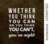 motivational and inspirational... | Shutterstock . vector #1194047323
