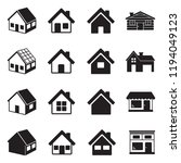 house icons. black flat design. ... | Shutterstock .eps vector #1194049123