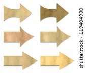 old paper arrows set | Shutterstock . vector #119404930