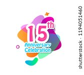 15 th logo anniversary and icon ... | Shutterstock .eps vector #1194051460