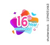 16 th logo anniversary and icon ... | Shutterstock .eps vector #1194051463